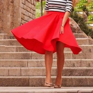 🎉Now In Stock! Red High Waisted Skirt!